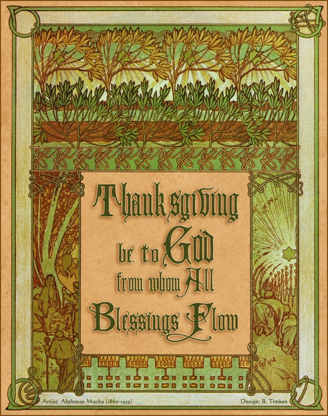 Thanksgiving be to God